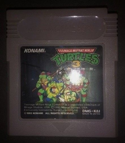 Teenage Mutant Ninja Turtles 3 Konami 1993 Made in Japan DMG-K8J Australian HTF