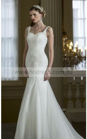 Buttons  Sheath Natural Spaghetti Straps Wedding Dresses gucf1001