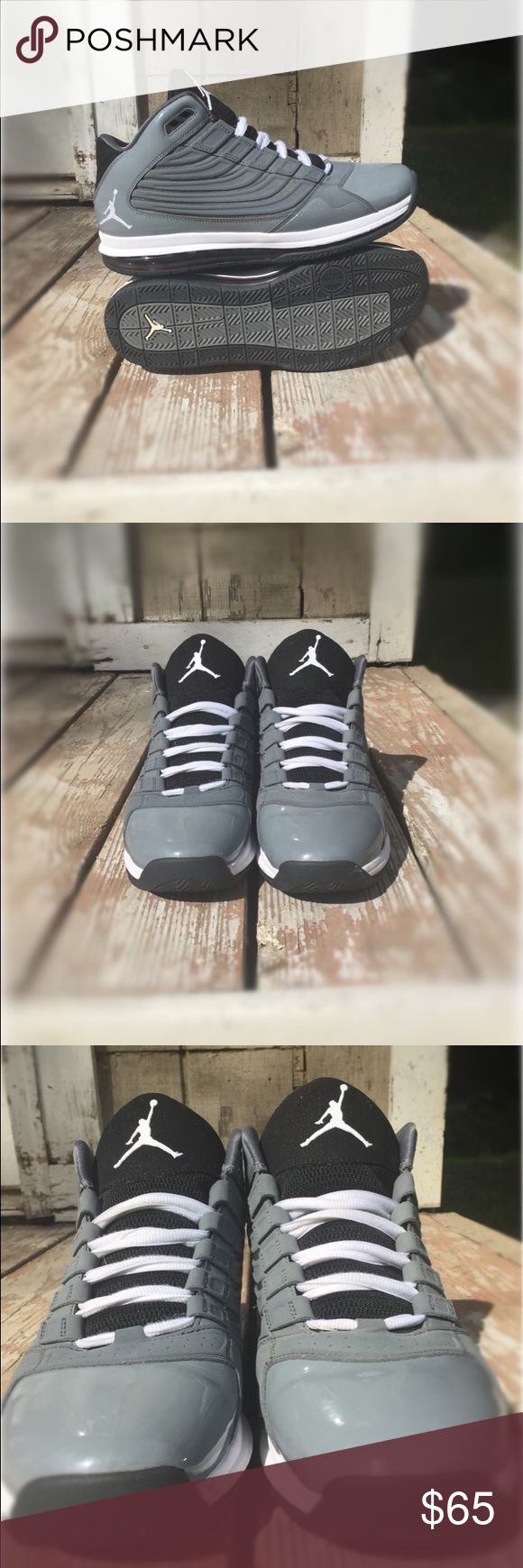 Air Jordans, Gray and Black, Size 11.5 Worn less than 5 times. No box. Give me your best offer! Jordan Shoes