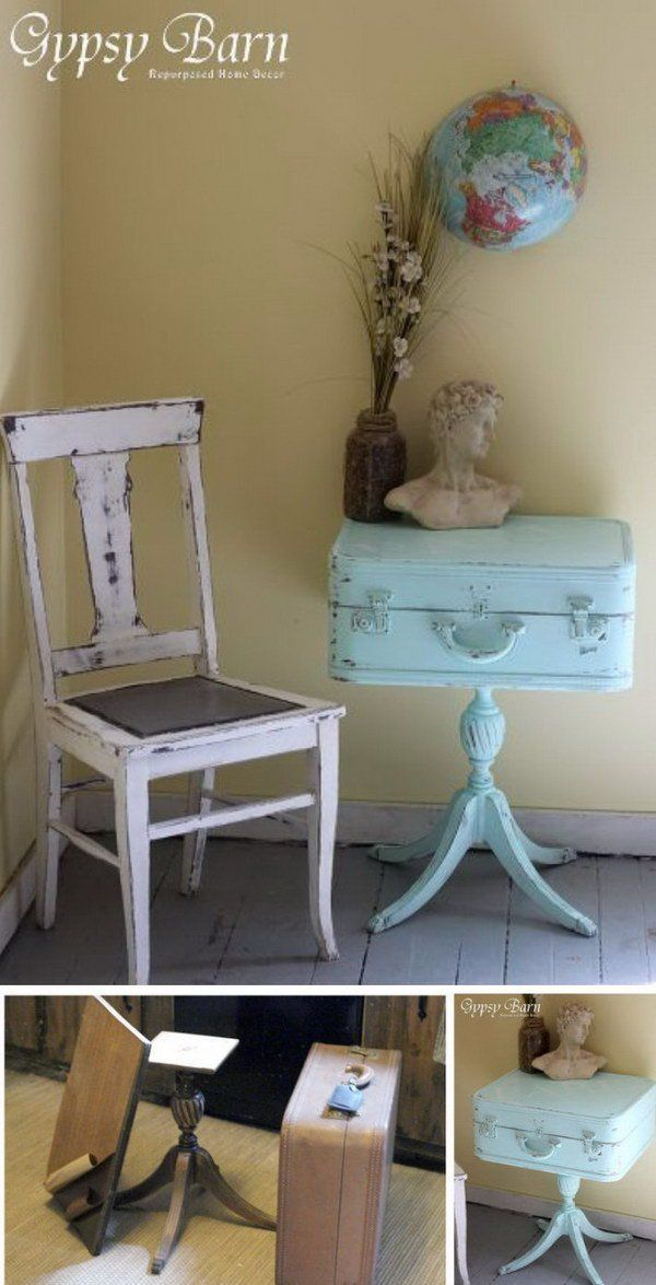 Shabby Chic Turquoise Trunks