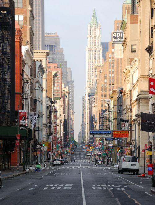 Sunday Morning on Broadway - New York City
