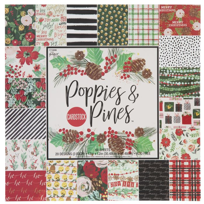 Decorative Craft Paper 20 patterned double sided sheets Christmas Scrapbook Paper 8.5 x 11