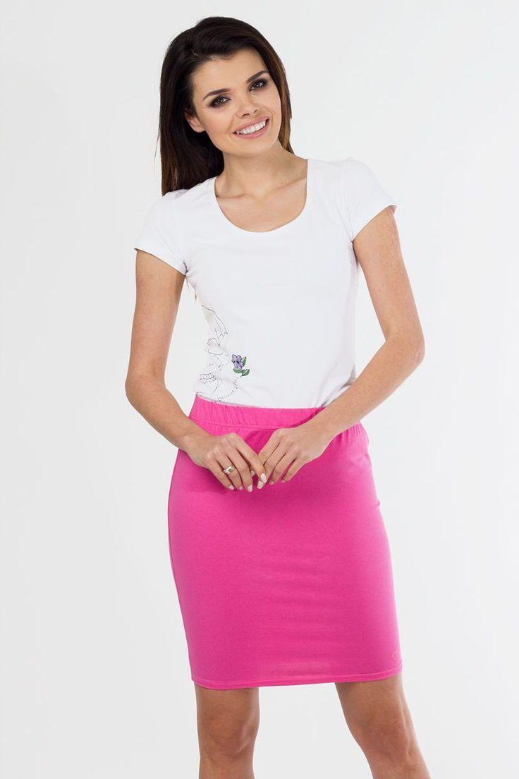 Εφαρμοστή μίνι φούστα.95% Cotton 5% Lycra