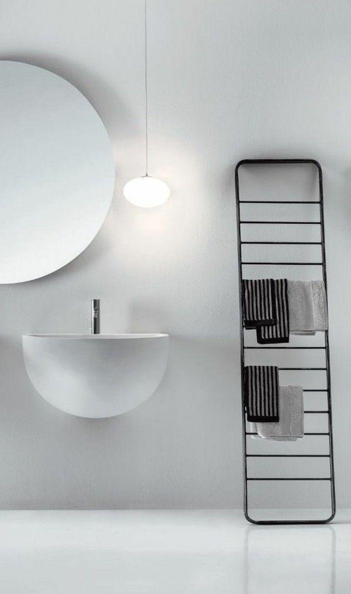 17 meilleures id es propos de grands miroirs de salle de for Salle de bain grand carreaux