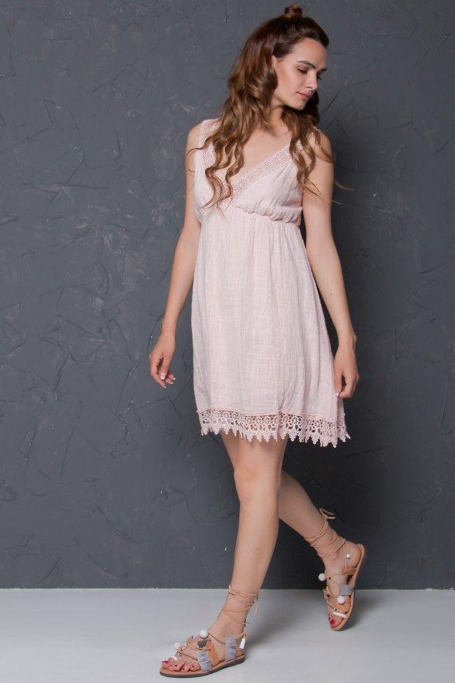 Lace Detail Cami Dress