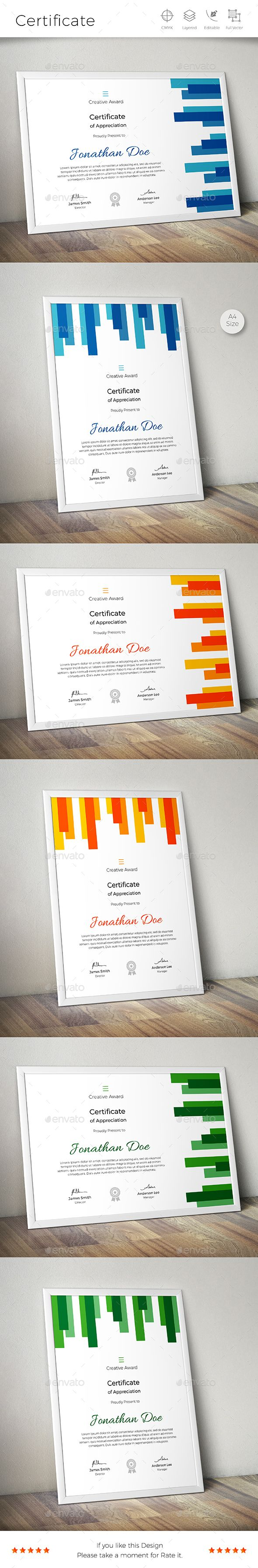 #Certificate - Certificates #Stationery Download here: https://graphicriver.net/item/certificate/18275773?ref=alena994