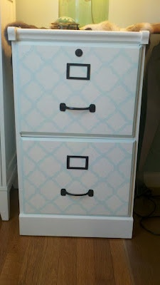 Temporary Nest: DIY Filing Cabinet Makeover