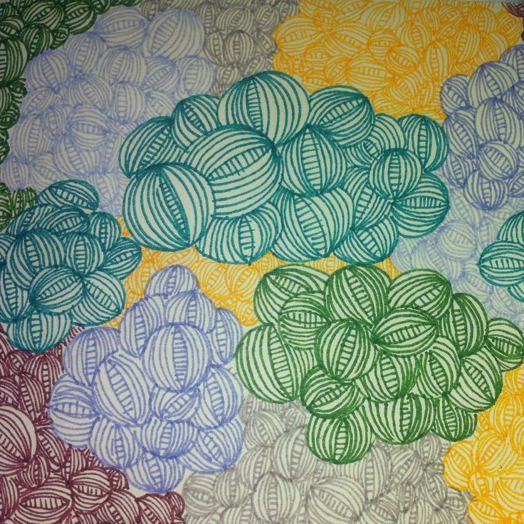 Cielo nublado #ilustración #scketch #sharpie #clouds #colors #onion