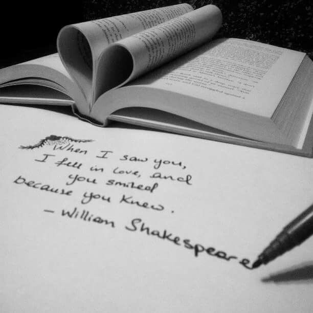 When I saw you, I fell ib love, and you smiled because you knew.  ~William Shakespeare
