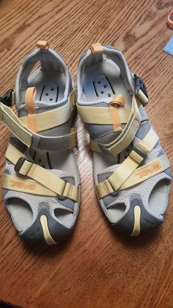 84c5900ed9bae TEVA Wraptor Women YELLOW Closed Toe Water Hiking Sandal Shoe 10.5M Pre  Owned  fashion  clothing  shoes  accessories  womensshoes  sandals (ebay  link)