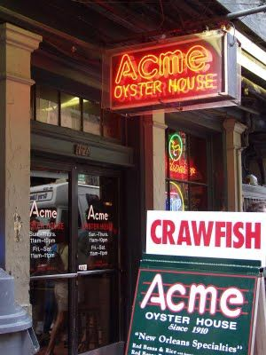 Acme Oyster House, New Orleans. Over 100 years old.  Best raw oysters in town!