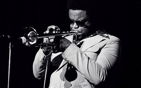 jazz trumpeter Freddie Hubbard playing in Rochester, New York IN 1976