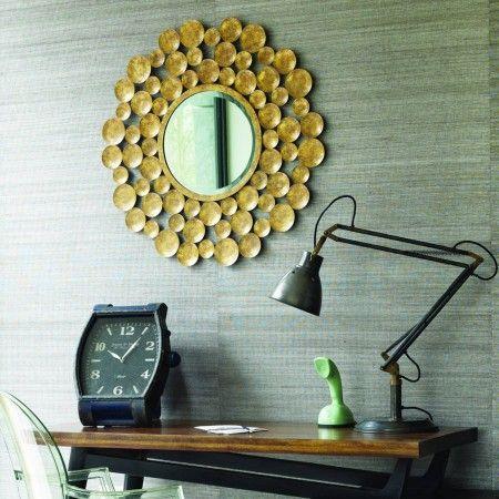 Gold Ball Mirror - Round & Oval Mirrors - Mirrors