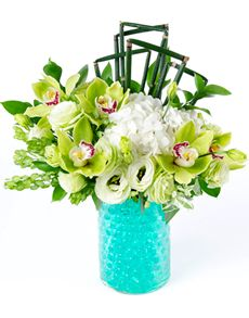 Gift Ideas - Easter Flowers: Flower Vase - Orchid and Hydrangea Mix!