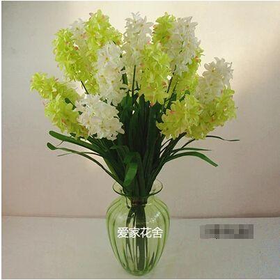 2015 jacinto flor de la simulación ramos de flores de seda auténtico Hostel Trim boda Larkspur sala de venta al por mayor especial correo del bolso(China (Mainland))