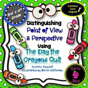 The+Day+the+Crayons+Quit,+by+Drew+Daywalt+is+a+perfect+read+aloud+for+studying+point+of+view+&+perspective.++This+mini-unit+includes+nine+engaging+activities+focused+on+studying+the+narration+of+the+story+and+perspectives+of+the+characters+&+the+reader.