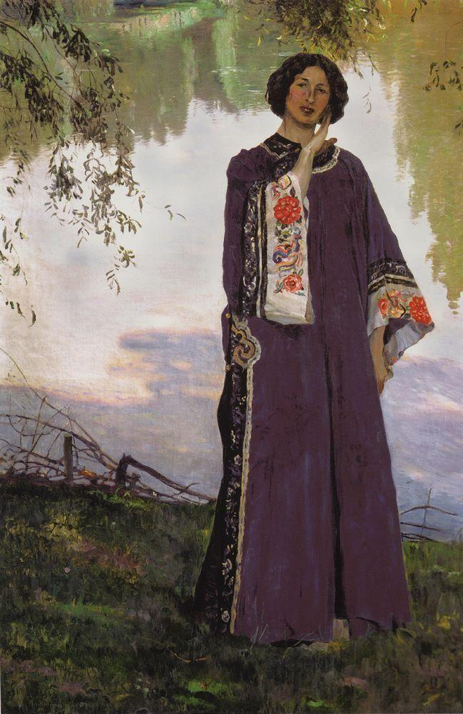 Михаил Васильевич Нестеров » Картины, живопись » Портрет жены, Е.П.Нестеровой. 1906
