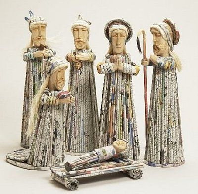 Rolled Newspaper and Wood. Asian Nativity Scenes from Sri Lanka, the Philippines, Bali, Indonesia, Bangladesh, and Vietnam Asia: Magellan Traders