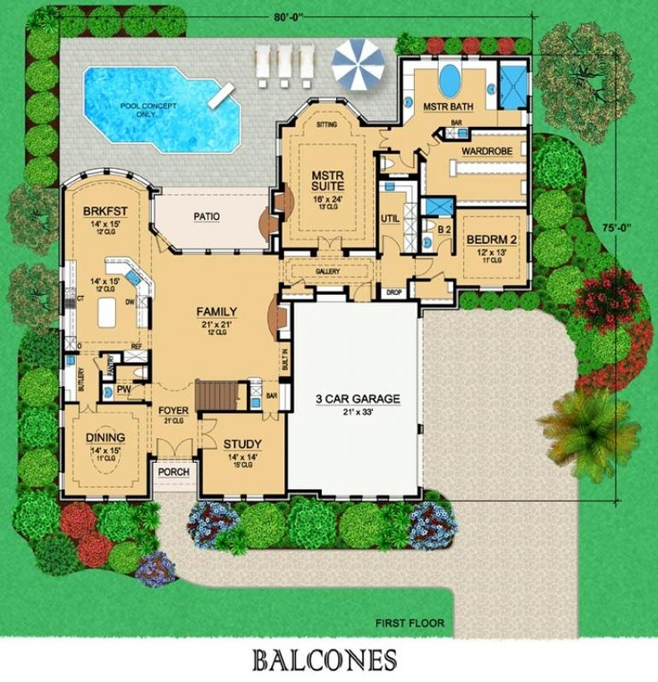 80 best floor plans images on pinterest house floor Dream house floor plans