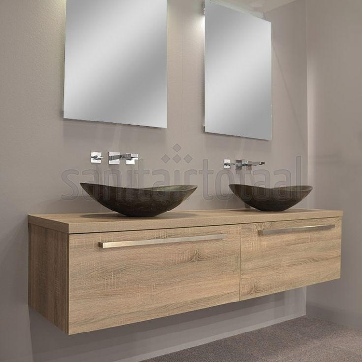 Landelijke badkamermeubels, badkamermeubel hout landelijk, badkamer ...