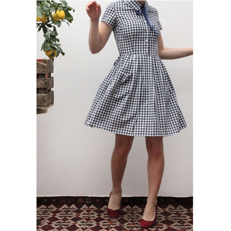 Little vichy 50's dress Ninon Retro spring collection  Www.Ninonretro.fr
