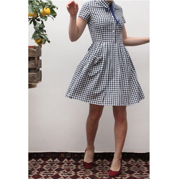 Little vichy 50's dress Ninon Retro spring collection  Www.Ninonretro.fr