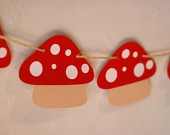 Mushroom Banner - Perfect addition to your Fairy, Woodland, Gnome, or Garden Birthday Party and Baby Shower-lush