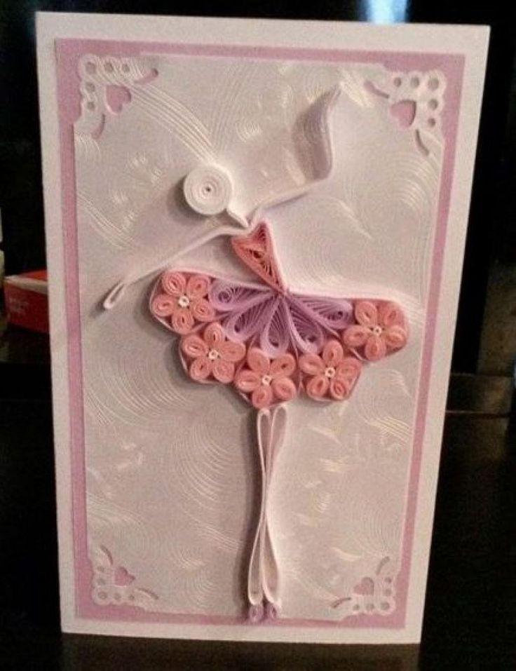 Красоткам открытки, открытка квиллинг девушка