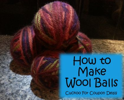 How to Make Wool Dryer Balls.  These are pretty cool--use them to cut down your clothes drying time by 50%!