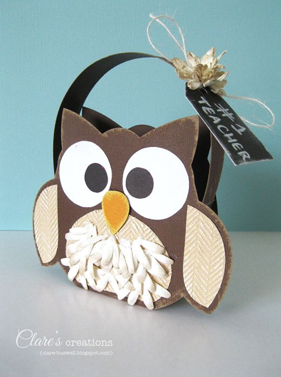 owl bag gift for teacher back to school