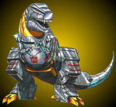 Me Grimlock say Pinterest needs more robot dinosaurs.