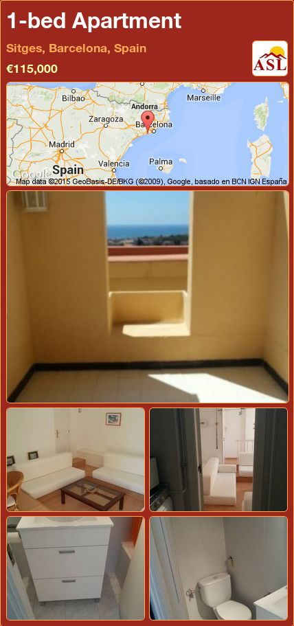 1-bed Apartment in Sitges, Barcelona, Spain ►€115,000 #PropertyForSaleInSpain