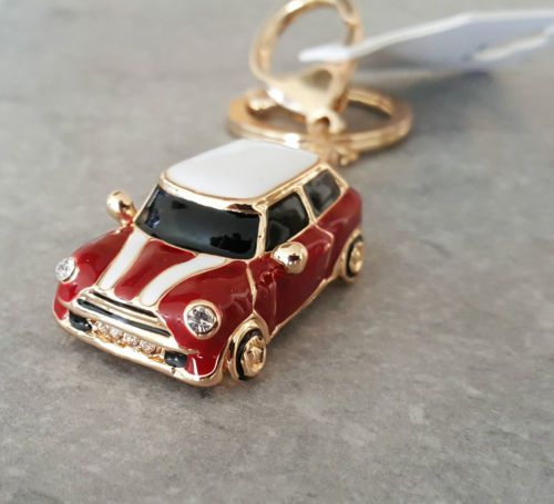 Mini-Cooper-Style-Car-Keyring-Gift-Blue-Red-Rhinestone-Detail-GRADE-B,  I WANT THAT TOO