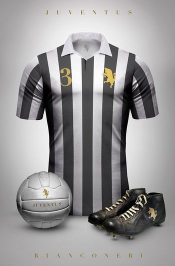 Juventus - Camisetas vintage de gigantes de Europa
