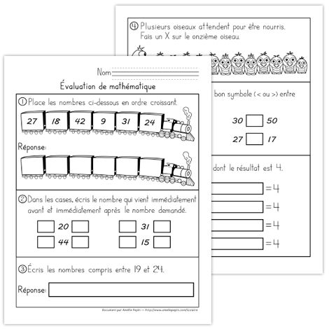 Fichier PDF téléchargeable En noir et blanc 7 pages Version 2012 Voici un document pour tester les connaissances de vos élèves en mathématique. Le contenu vise plus particulièrement les élèves de 1re année, bien qu'il peut vous être utile avec certains élèves de 2e année. Le document contient 7 pages, soit 20 numéros.