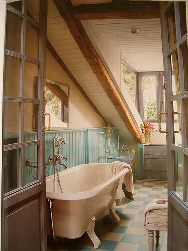 Attic Country Bathroom