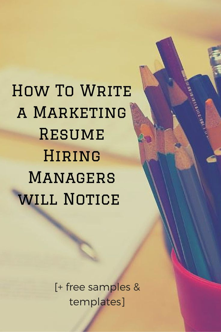 write a resume hiring managers will notice templates to help - Help With A Resume Free