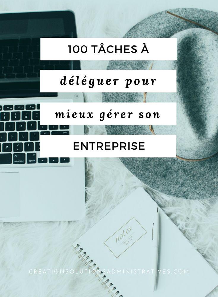 100 tâches à déléguer pour mieux gérer son entreprise