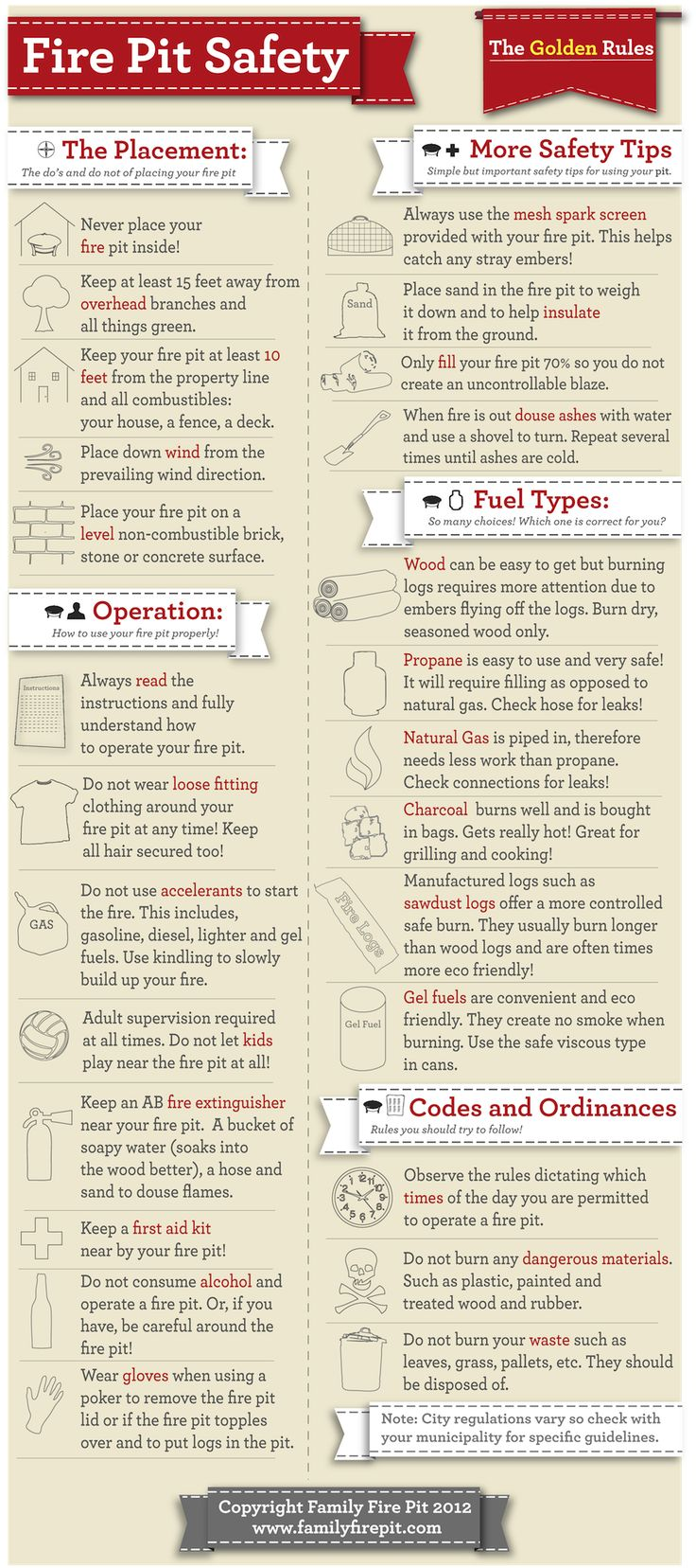 Guide To Backyard Fire Pit Safety Guidelines Infographic