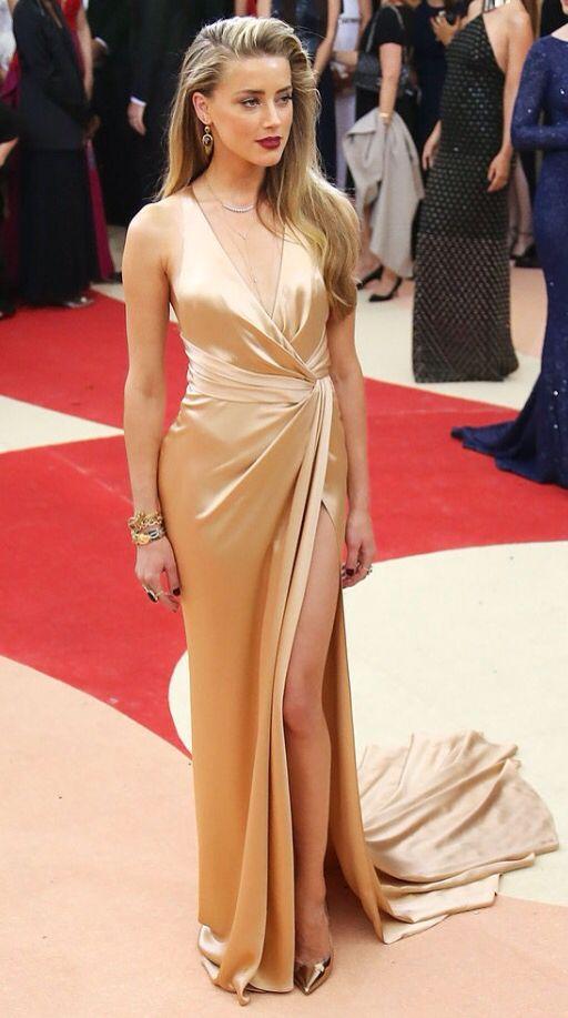 Amber Heard at the Met Gala
