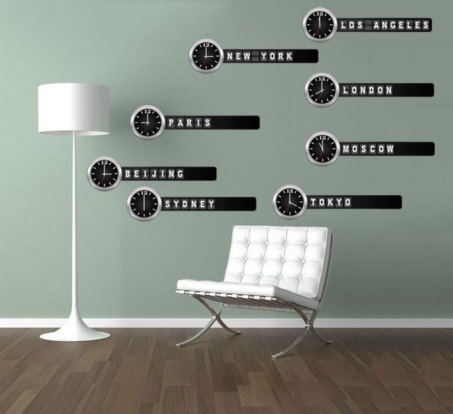 world clocks display
