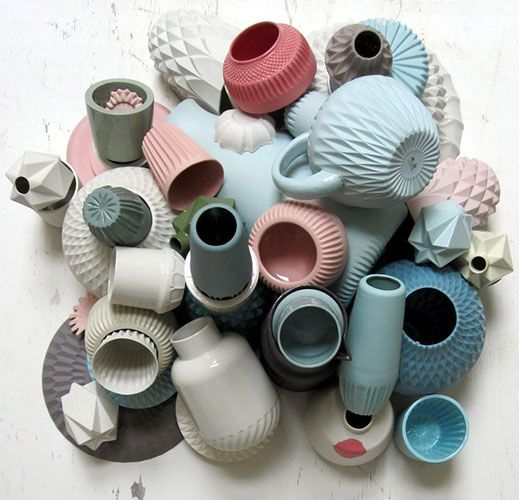Porcelain homewares by Lenneke Wispelwey