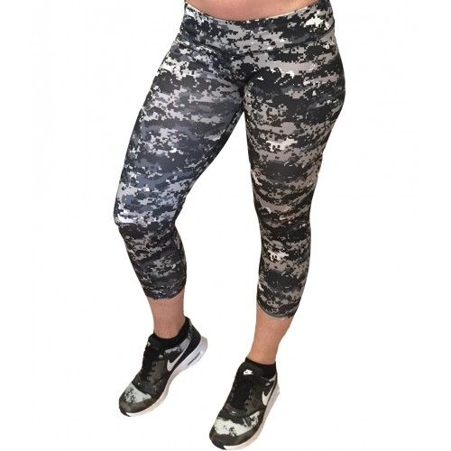 Digital Camouflage Capri Leggings
