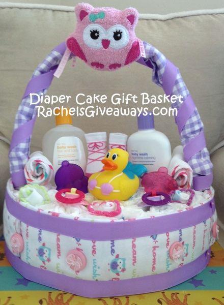 Baby Shower Gift Idea: DIY Diaper Cake Gift Basket