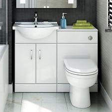Gloss White Vanity Unit Sink U0026 Toilet | Ceramic Basin U0026 Pan Bathroom Suite  Set