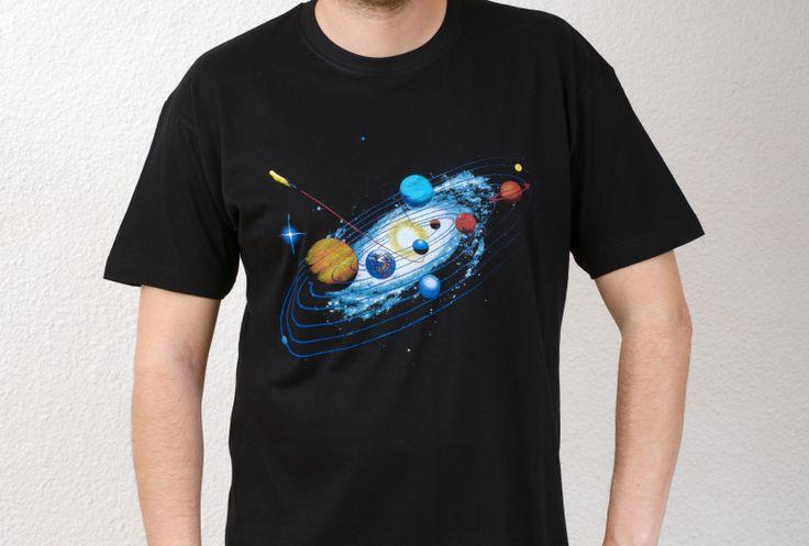 Unisex Black T-Shirt Design : Voyage