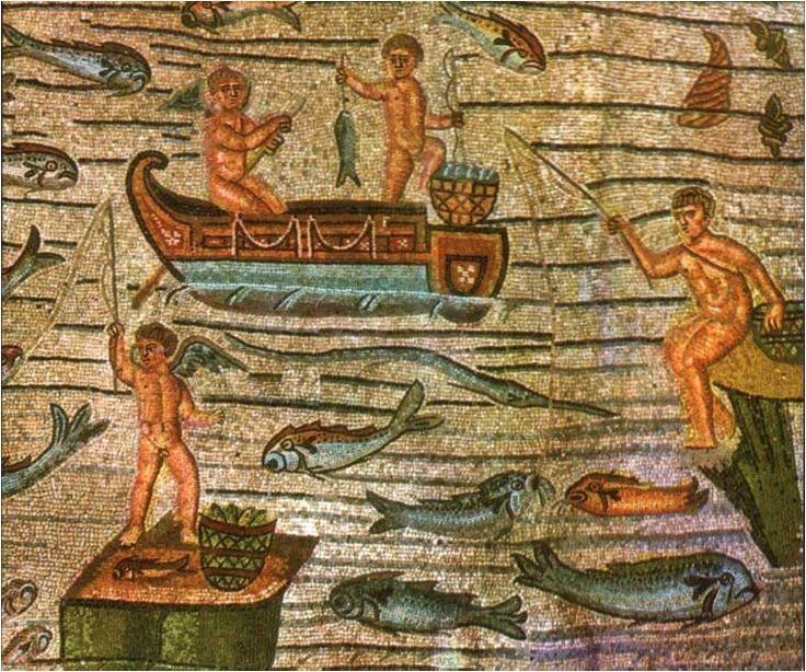 Mosaico di Aquileia con amorini pescatori
