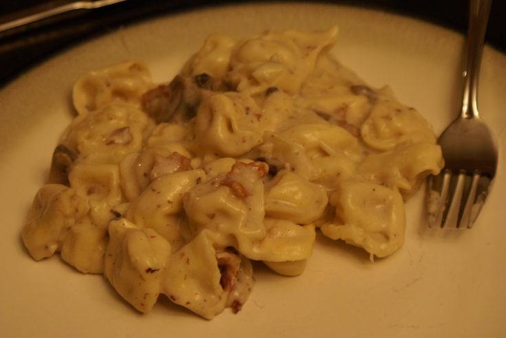 Baked Cheese Tortellini with Bacon