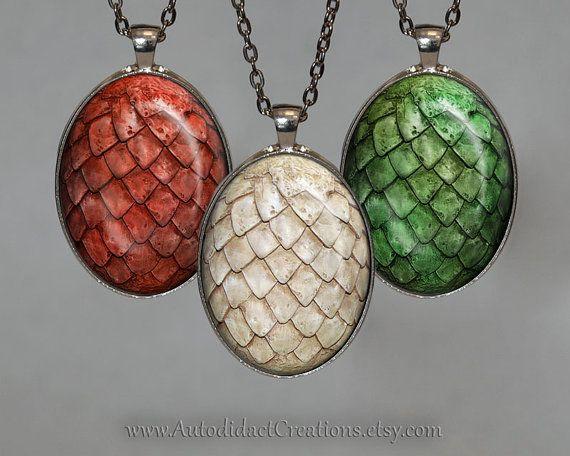 Game of Thrones Set of Dragon Eggs Jewelry, Daenerys Targaryen Dragons Necklace, game of thrones jewelry, Dragon Egg Necklace Dragon Geekery... www.autodidactcreations.etsy.com