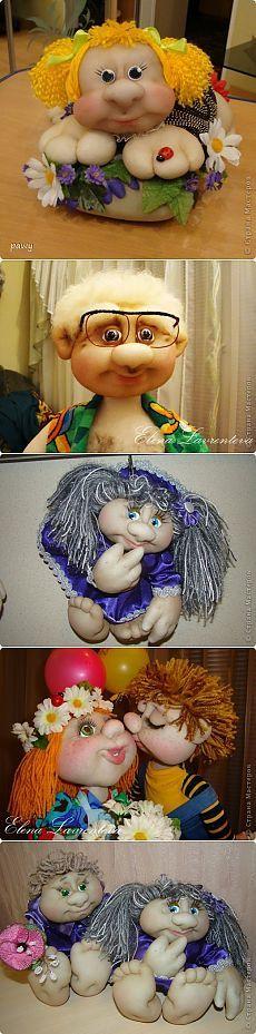Текстильные куклы из капрона. Идеи.